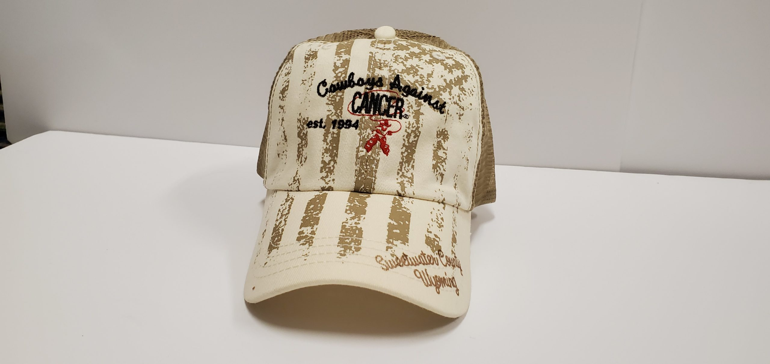 Mesh Light Brown with Flag Cap