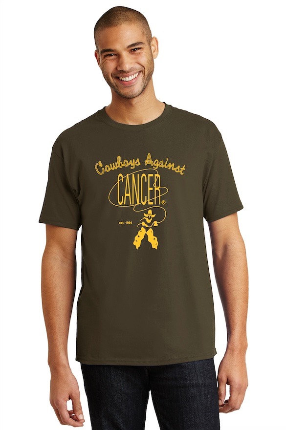 2019 Design – Men's T-Shirt – Brown With Gold Screen Print